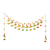 Digital Dress Room Toran For Door Hangings Diwali Decoration Fancy Multicolour Pom Pom balls with Parrots & Latkans