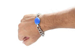 Digital Dress Room Turquoise Silver Brass Rakhi Salman Khan Bracelet