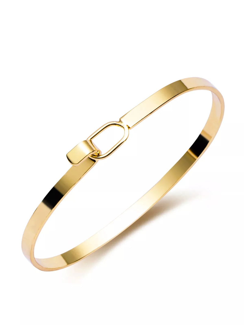 Gold Plated Open Bangle Bracelet