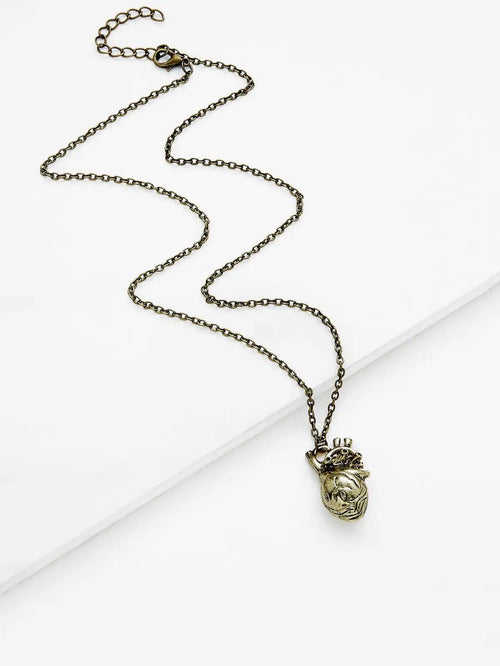 Digital Dress Room Gold Irregular Shaped Pendant Necklace