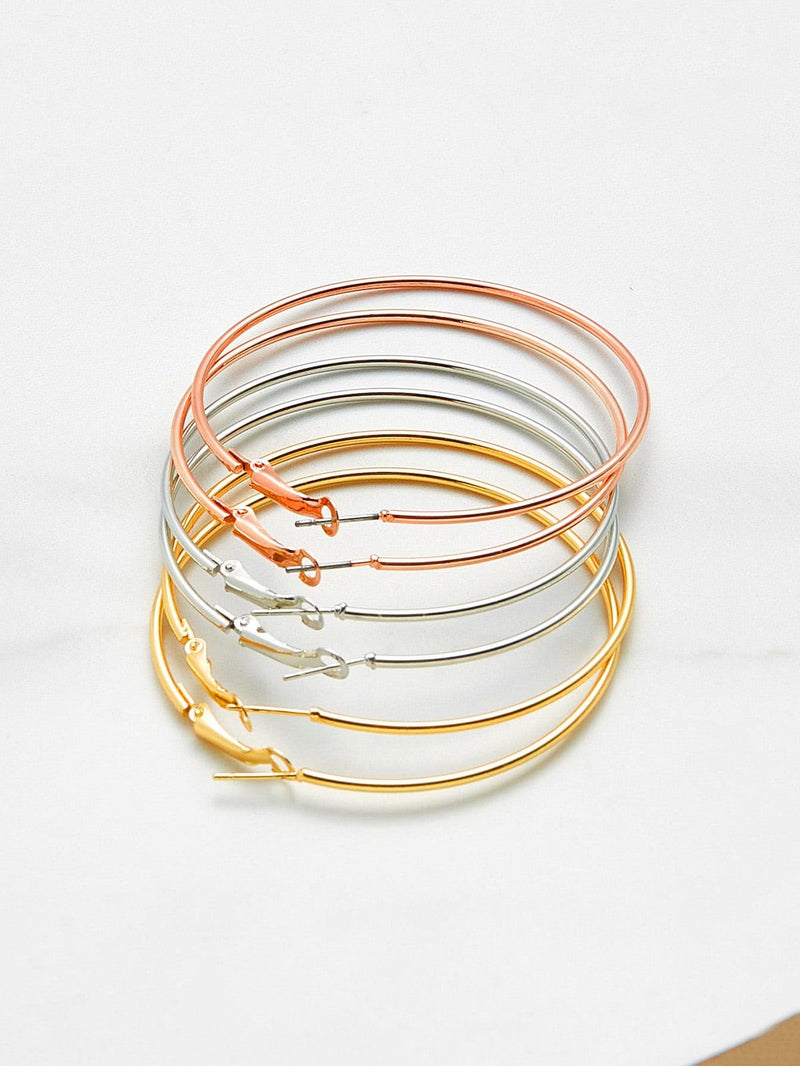 3pcs/set Extra Large Hoop Earring