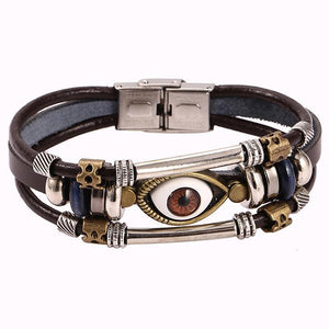 Eye Shaped Rakhi Beaded Unisex Multilayer Bracelet - DigitalDressRoom