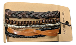 Men Bracelet Accessories Multilayer Multi color Leather Wrap Wrist Bands