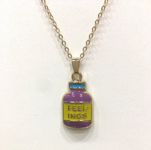 "Modern Pendent Necklace Print ""FEELINGS"""