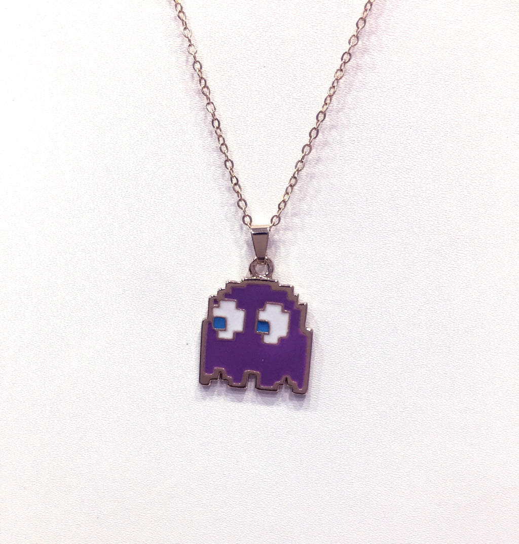 Pack man Monster Cartoon Pendant Necklace