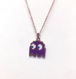 Digital Dress Room Pack man Monster Cartoon Pendant Necklace