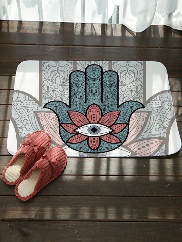 Hand And Eye Design Floor Mat