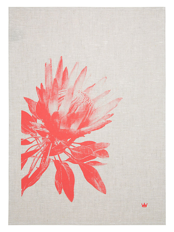 Pretty Protea Tea Towel