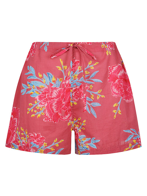 Pink Flower Burst Pyjama Shorts