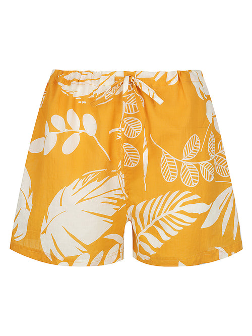 Burnt Orange Palm Pyjama Shorts