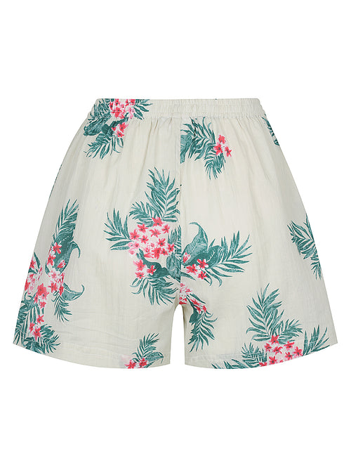 Off White Fern Pyjama Shorts