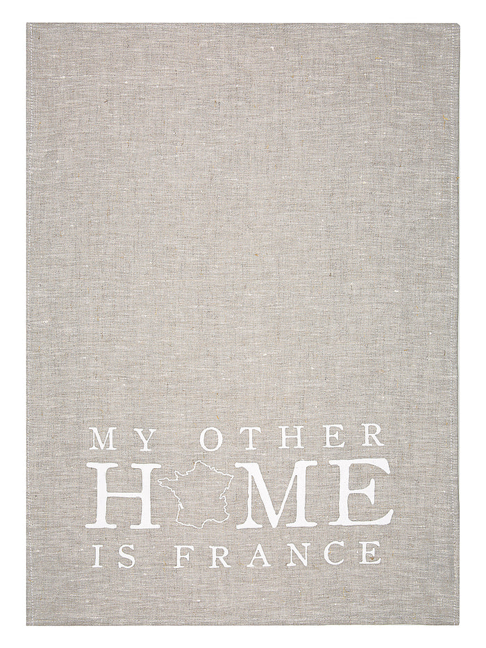 My Other Home is France Tea Towel (oatmeal)