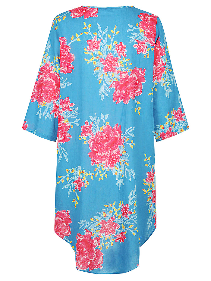 Blue Flower Burst Cape