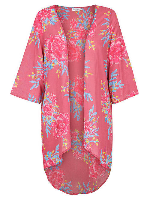 Dusky Pink Flower Burst Cape