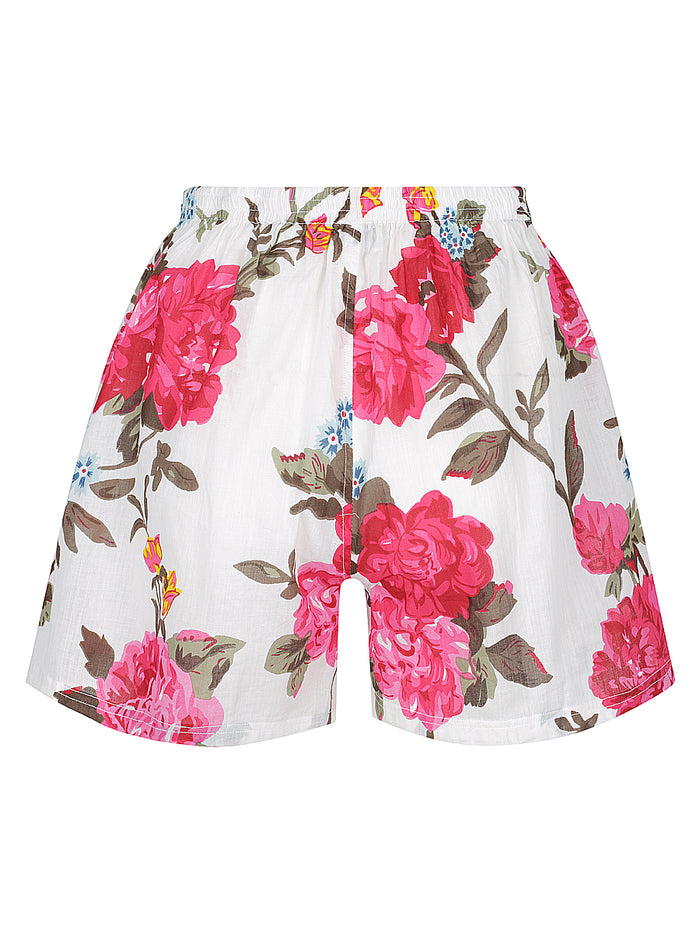 White Rose Pyjama Shorts