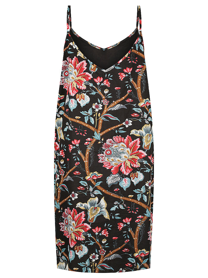 Black Vintage Floral Slip Nightie