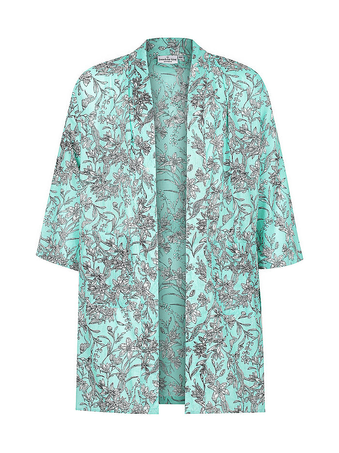 Kids Mint Green Bloom Kimono