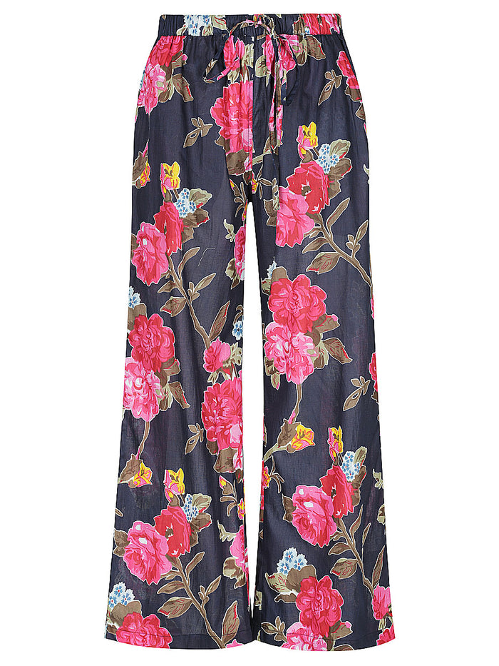 Navy Rose Lounge Pants