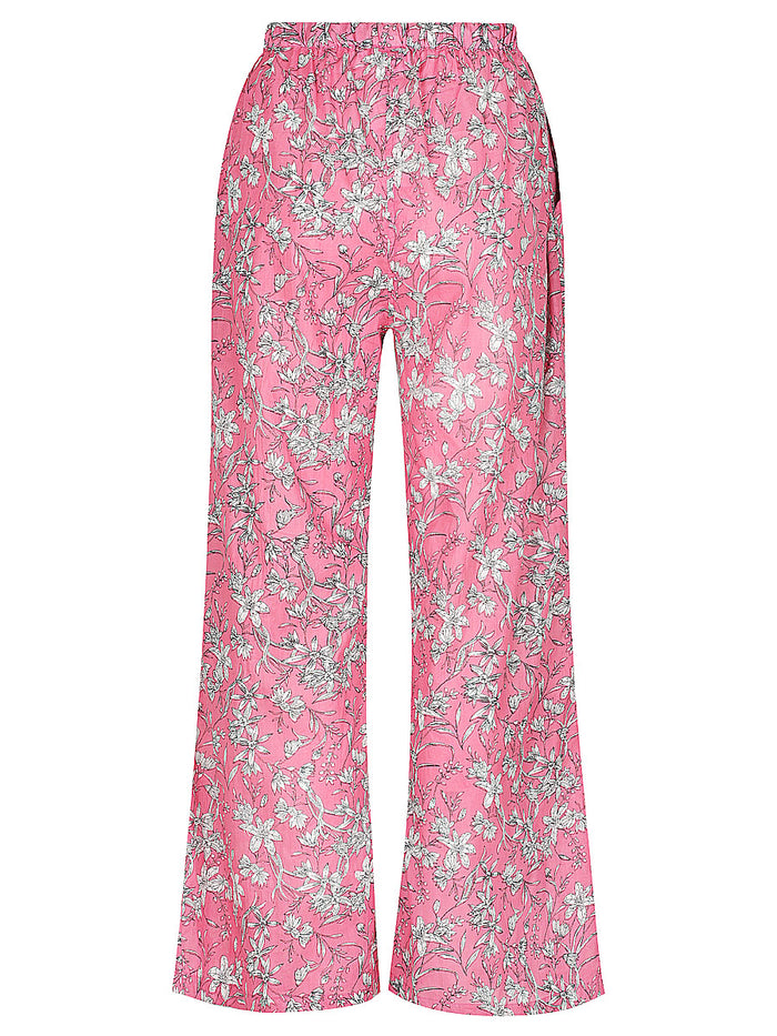 Dusky Pink Bloom Print Lounge Pants