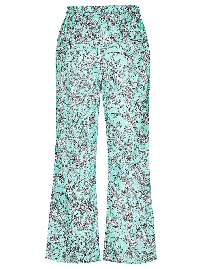 Mint Green Bloom Lounge Pants