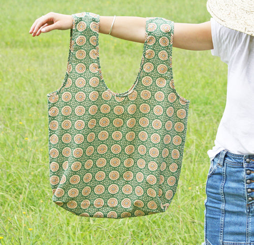 Green Circle Shoulder Bag