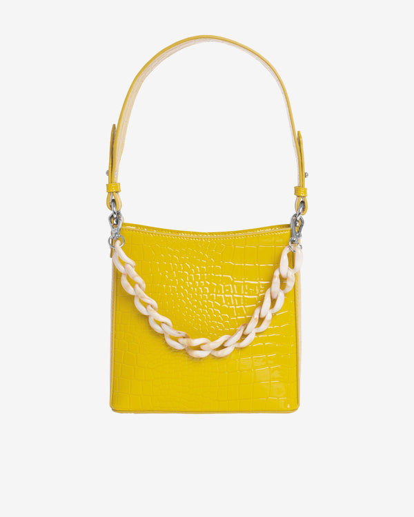 Hvisk AMBLE CROCO SMALL Handle Bag 018 Yellow