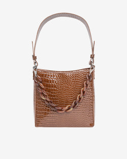 Hvisk AMBLE CROCO SMALL Handle Bag 060 Brown