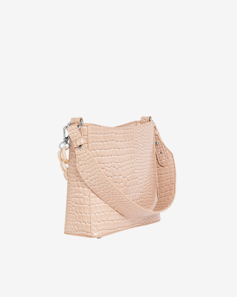Hvisk AMBLE CROCO SMALL Handle Bag 125 Sand Beige