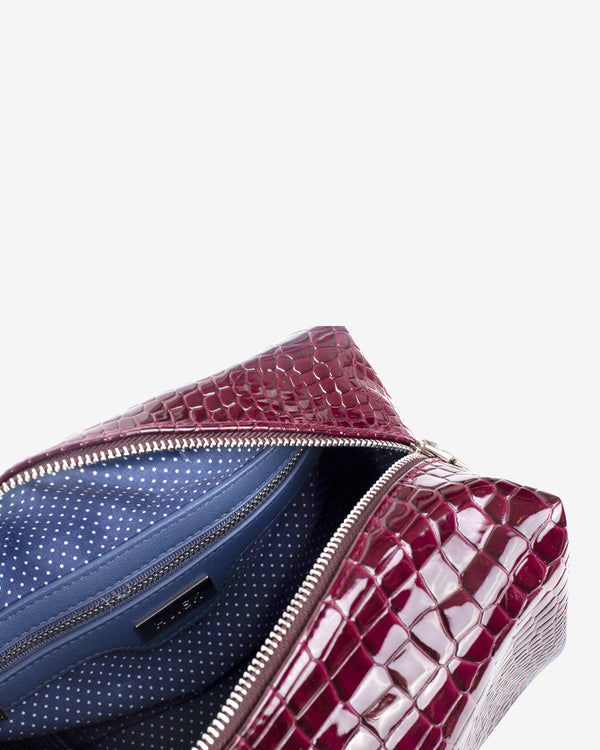 Hvisk AVER CROCO Makeup Bag 106 Maroon
