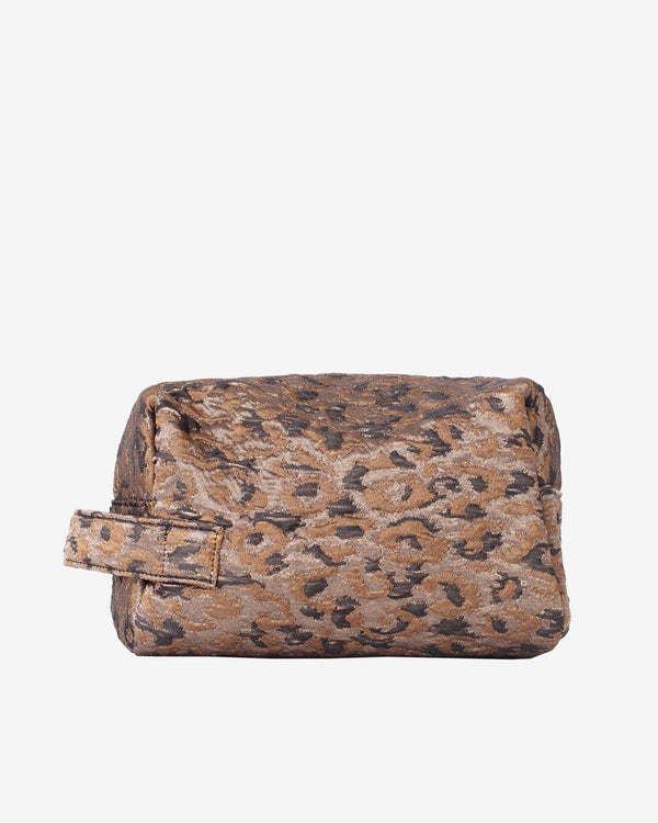 Hvisk AVER LEOPARD Makeup Bag 113 Silver Brown Multi