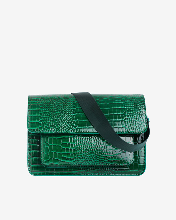 Hvisk BASEL CROCO Crossbody 127 Pine Green