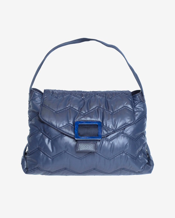 Hvisk BILLOW QUILTED WAVY Handle Bag 014 Blue