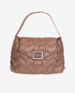 Hvisk BILLOW QUILTED WAVY Handle Bag 102 Mushroom