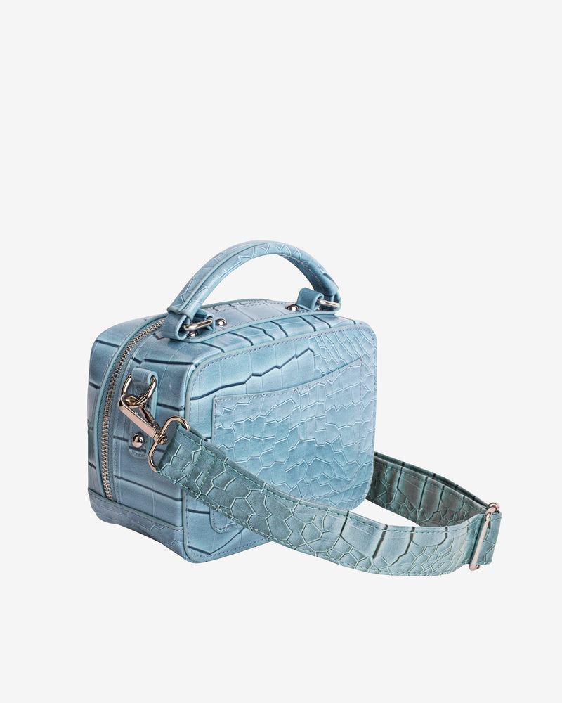 Hvisk BLAZE CROCO Crossbody 0071 Dusty Blue