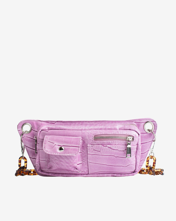 Hvisk BRILLAY CROCO Bum Bag 016 Dusty Pink