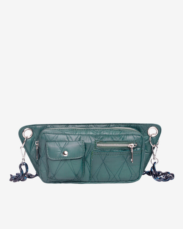 Hvisk BRILLAY QUILTED SEA Bum Bag 010 Green