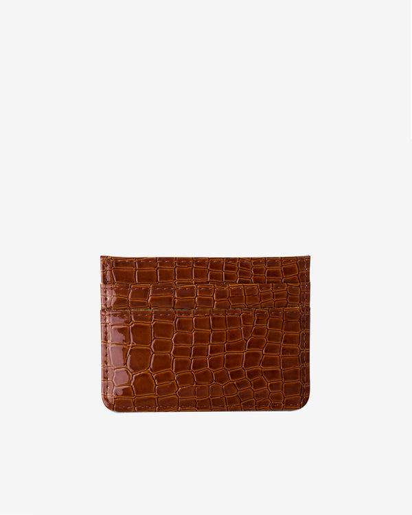 Hvisk CARD HOLDER CROCO Wallet 079 Chocolate