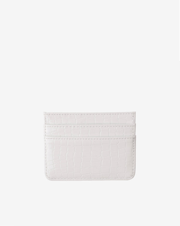 Hvisk CARD HOLDER CROCO Wallet 080 Bright White