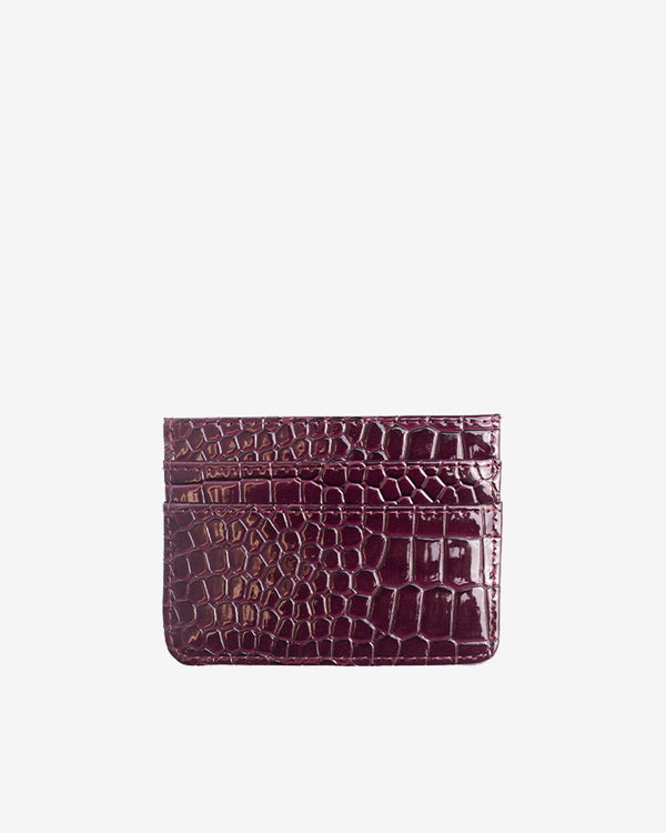 Hvisk CARD HOLDER CROCO Wallet 106 Maroon