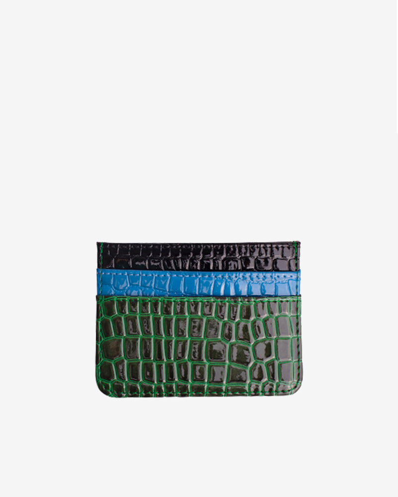 Hvisk CARD HOLDER MULTI CROCO Wallet 009 Black