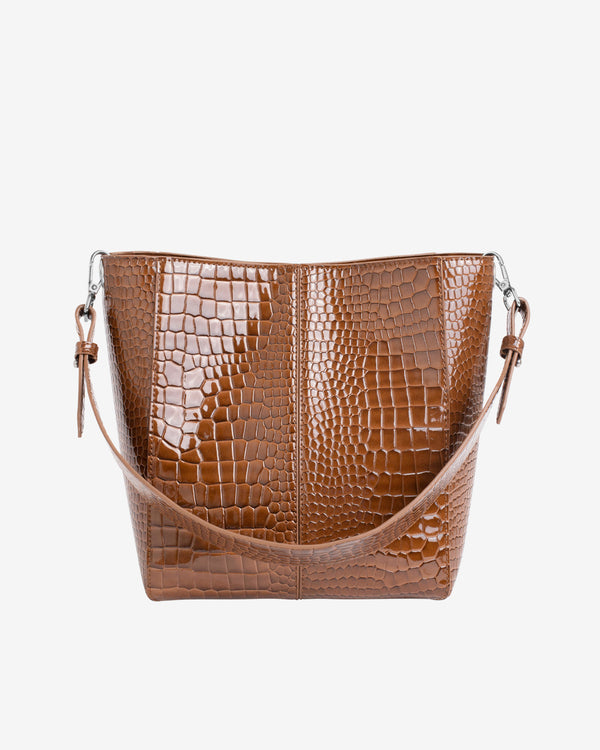 Hvisk CASSET MEDIUM CROCO Crossbody 060 Brown