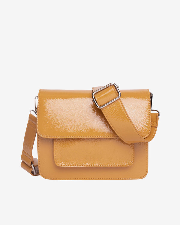 Hvisk CAYMAN POCKET GLOSSY Crossbody 105 Mustard