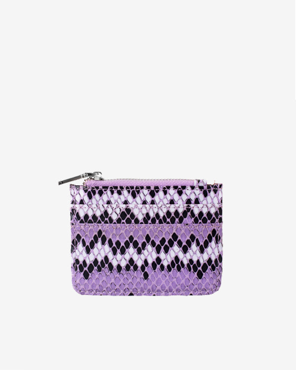 Hvisk CAYMAN SNAKE CARD HOLDER Wallet 008 Purple