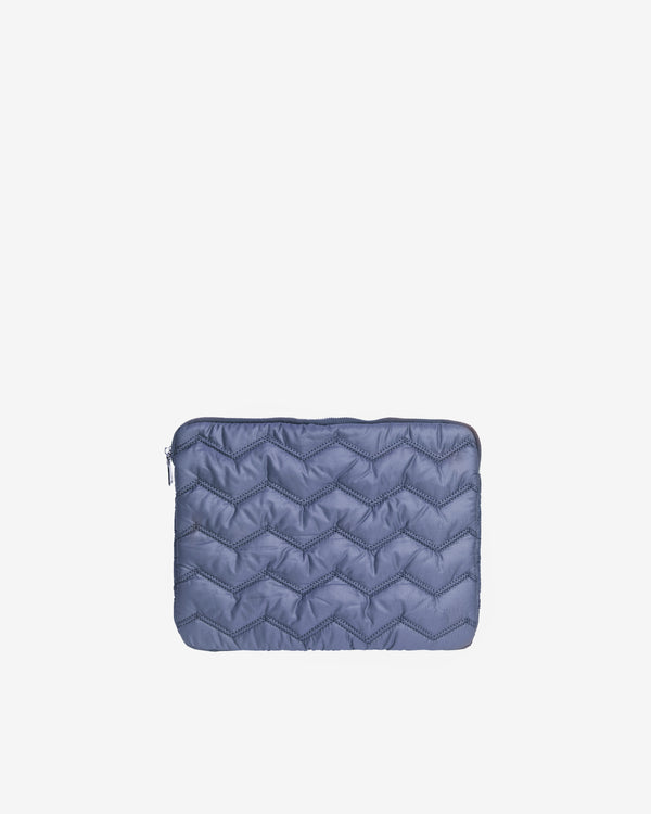 "Hvisk COMPUTER SLEEVE 13"" QUILTED WAVY Computer Sleeve 014 Blue"
