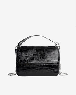 Hvisk DALLY CROCO Handle Bag 009 Black