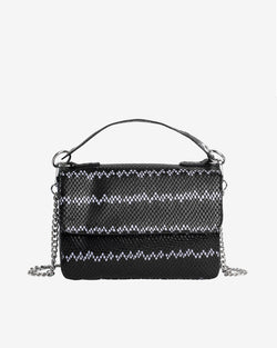 Hvisk DALLY SNAKE Handle Bag 009 Black