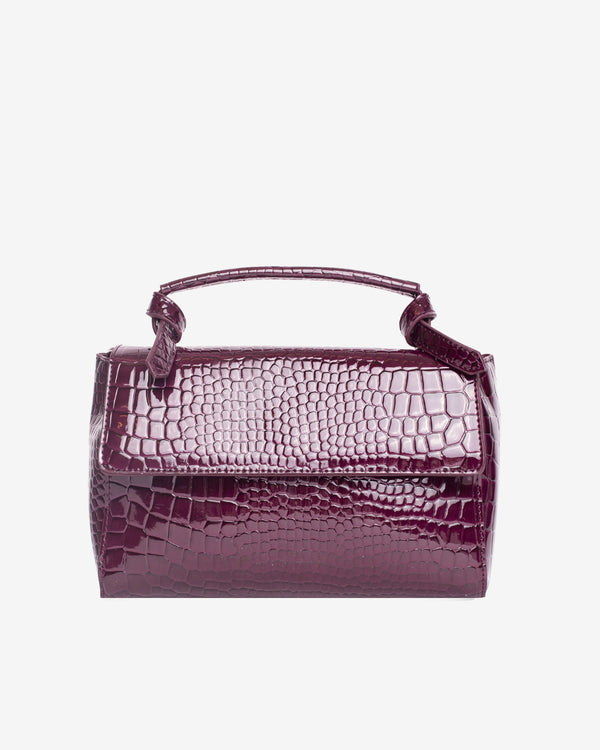Hvisk GANNET CROCO Handle Bag 106 Maroon