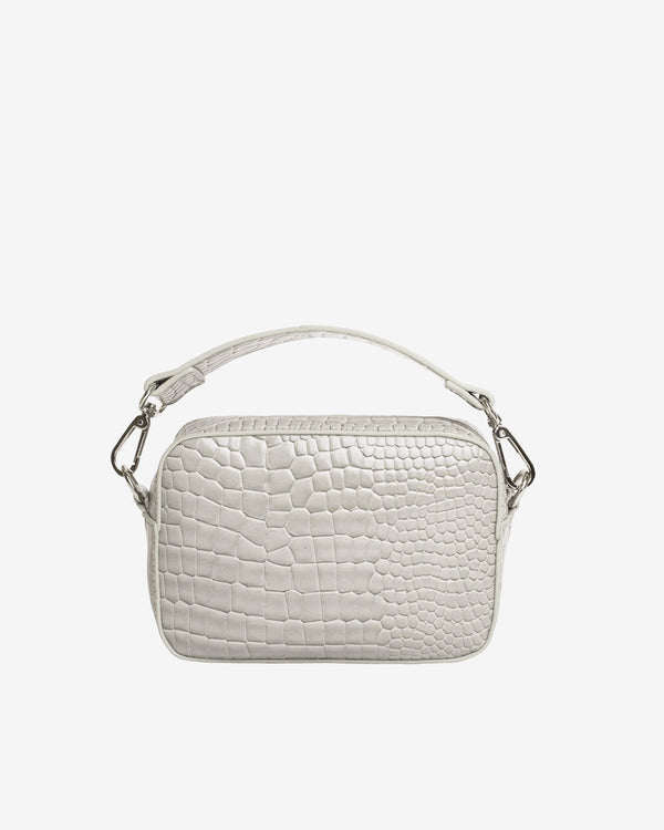 Hvisk GLAZE CROCO Crossbody 103 Light Grey