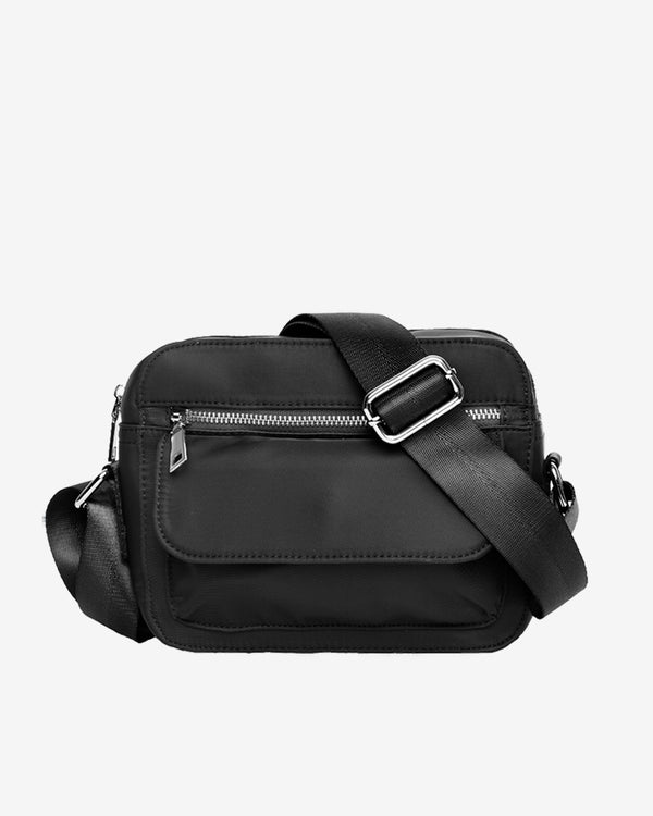 Hvisk HALLI NYLON Crossbody 108 Jet Black