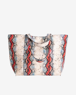 Hvisk JUNA SNAKE Shopper 027 White